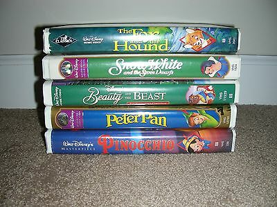 W Disney Beauty Beast Peter Pan Pinocchio Snow White The Fox and the Hound Lot 5