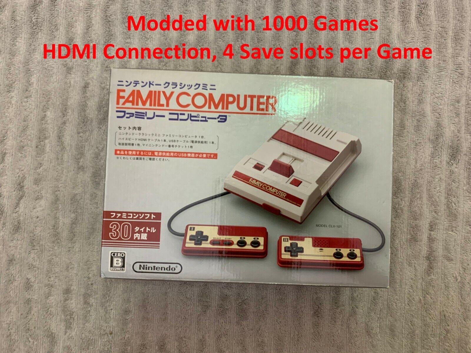Nintendo Family Computer Famicom NES Mini Console US Modded 1000 Classic Games