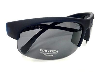 Nautica Sunglasses N3575SP Polarized Color 317 Matte Navy Plastic Wrap 68-18-125