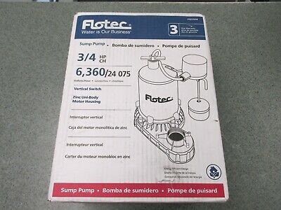 Flotec Fpzt7450 - 34 Hp Zinc Submersible Sump Pump W Vertical Float Switch