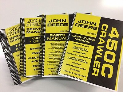 John Deere 450c Crawler Dozer Loader Service Operators Parts Manual 1000 Pages