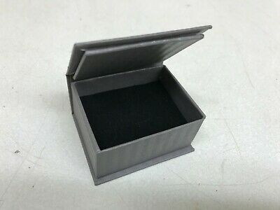 Lot Of 50 Ring Retail Jewelry Gift Box Gray Paper Velvet Bulk Wholesale