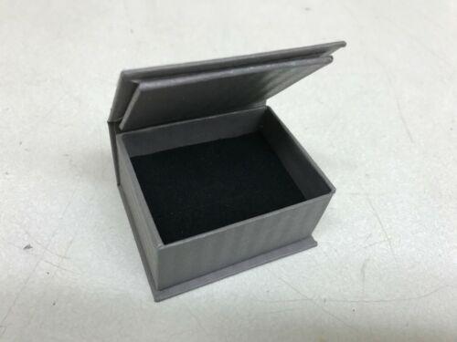 LOT of 50 Ring Retail Jewelry Gift Box Gray Paper Velvet Bulk Wholesale