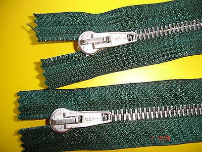 1 Reißverschluß OPTI dunkelgrün 65cm, 2-Wege-RV Metallzähne X30