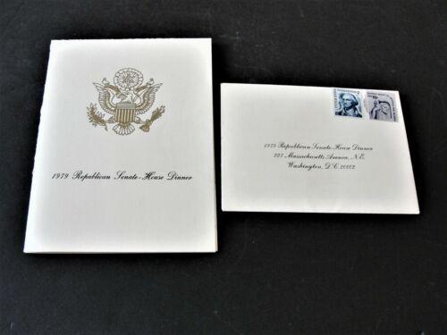 1979 Republican Senate- House Dinner Program, Attendance Card and Fact Card.