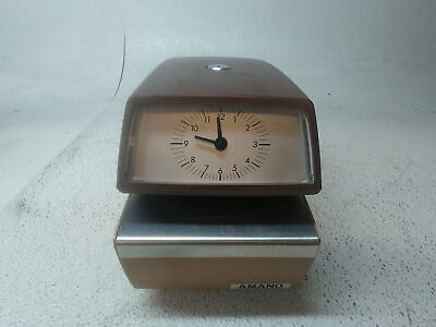 Amano Time Date Stamp Punch Clock - Model Number 4746 No Key Fair Condition