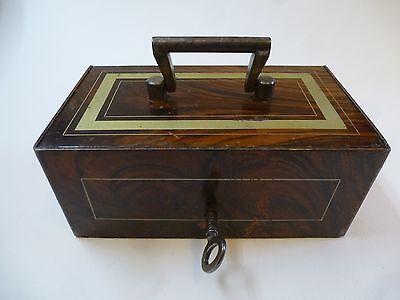 Geldkassette Münzkassette Kasse Kassette Metall Schatulle um 1890 abschließbar !