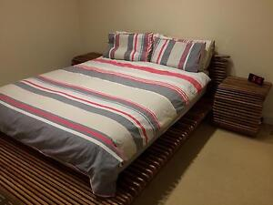 Solid Wood King Bed and side tables Ormond Glen Eira Area Preview