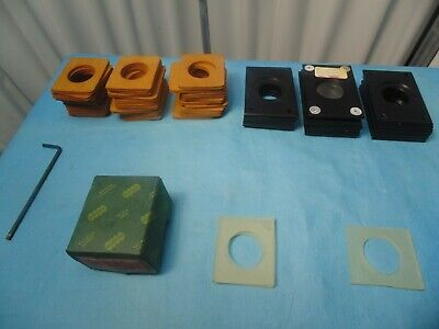 Lot Of Glass Coverslips Single Microscope Slides Sample Covers Screws