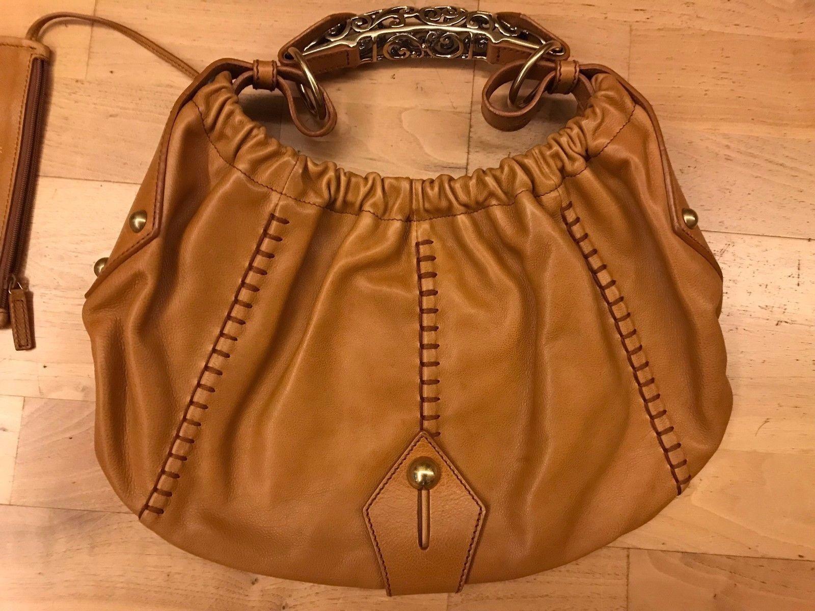 ORIGINAL YVES SAINT LAURENT Handtasche Damen Tasche COGNAC Farbe
