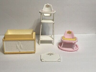 1984 Mattel Furniture Lot~Nursery Baby High Chair and More..