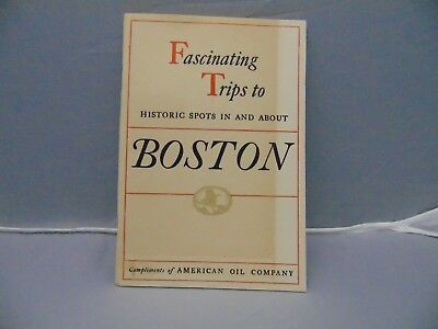 1948 American Oil Company Fascinating Trips to Boston Booklet 46 pages AMOCO Gas
