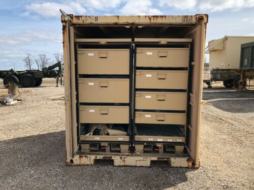 Storage container with four removable storage compartments hmmwv m998 Lmtv hemtt