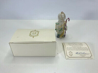 LENOX 2004 SNOWMAN CANDY CANE Ornament NEW in BOX with COA