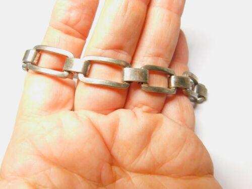 Silver Plated Open Work Metal Rectangle Linked Bracelet Vintage