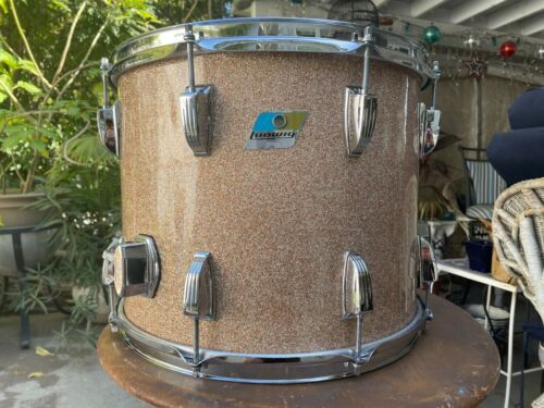 "vintage ludwig champagne sparkle 15"" floor tom 3 ply 70"