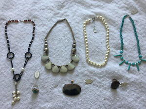 *** AUTHENTIQUE ANTIQUE SILVER & PRECIOUS STONE JEWELRY ***