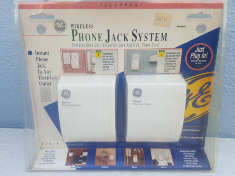 NEW - 1994 GE Wireless Phone Jack System (GE916)