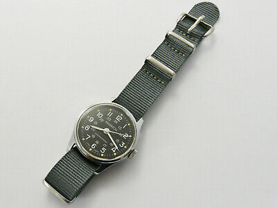 VINTAGE 1960s INGERSOLL ( RARE NON DATE ) MILITARY 24H DIAL GENTS WRISTWATCH VGC