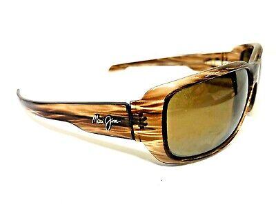 Maui Jim MJ 226 HAMOA BEACH Sunglasses Transparent Striped Brown  (Hamoa Beach Sunglasses)