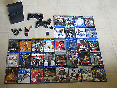 Playstation 2 komplett mit 5 Gratis Spiele + 2 Controller + MC PS2 PS 2 Konsole (Ps2 Komplett Konsole)