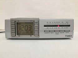 Timex T434S Digital Triple Alarm Clock & Nature Sounds Sleep Therapy AM FM Radio