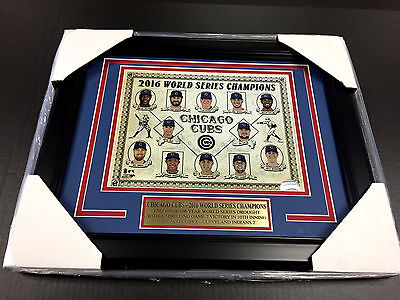 2016 CHICAGO CUBS WORLD SERIES CHAMPIONS TEAM FRAMED PHOTO #1 8X10