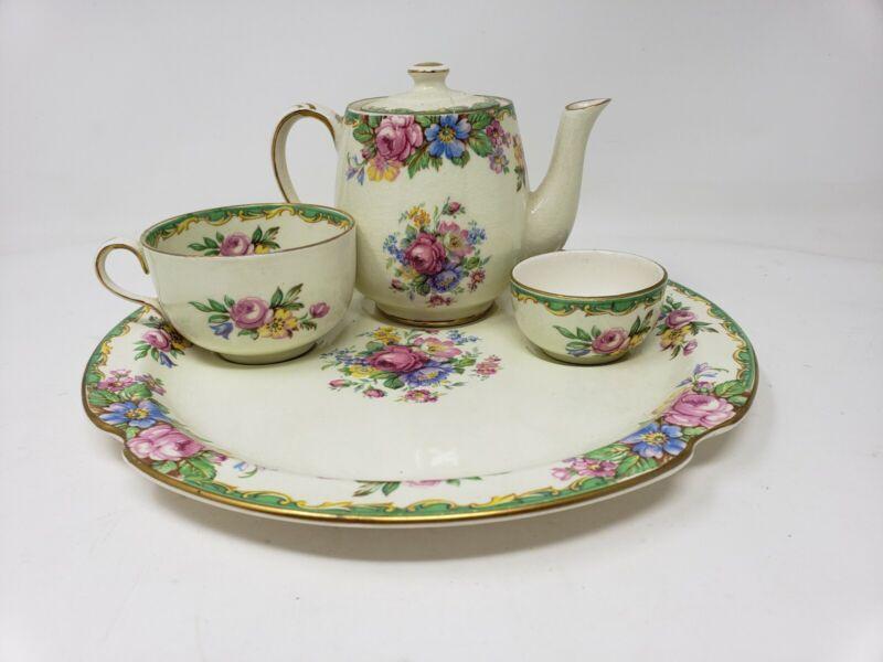 Roses Vintage James Kent Pearl Delight Chintz Breakfast Set Teapot Tea For One