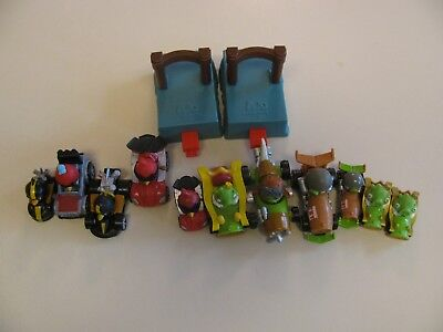 Rovio Angry Birds Telepods Karts Mini Micro Race Cars Large Lot Figures Launcher