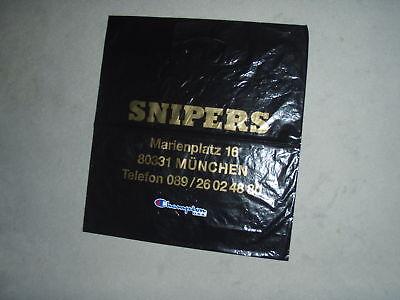 Sammeln - Werbe Plastiktüte / Tüte - Snipers - selten - rar