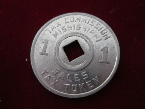 Vintage 1920s-1940s Tax Commission Mississippi Sales Tax Token Coin