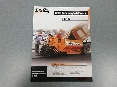 Leeboy 8515 Asphalt Paver Color Sales Brochure 4 Pages