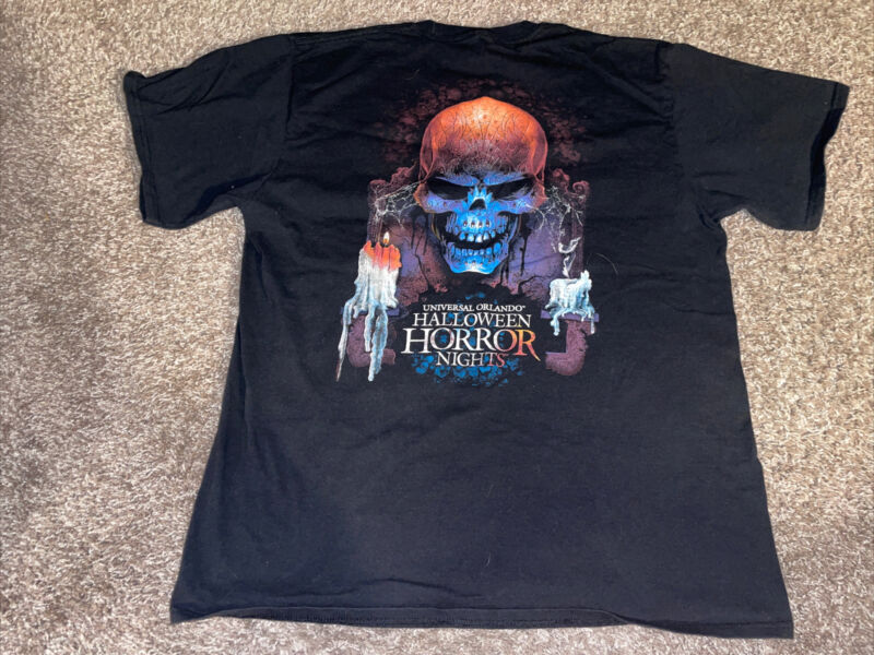 Universal 2017 Halloween Horror Nights Entertainment Staff Shirt Size L