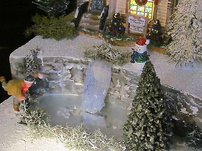 Christmas WATERFALL Frozen POND Village Display platform base Dept 56 North Pole