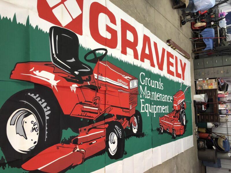 Original Gravely Dealer Advertising Poster Sign Commercial Walk Behind Mower BIG