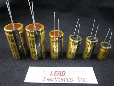 Qty 6 Differant Nichicon Gold Ufw Series Audio Capacitors Mixed Lot