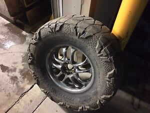 "4 37"" tires on 18"" rims"