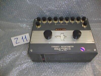 Leeds And Northrup Students Potentiometer 7645 Vintage Voltage Measurement