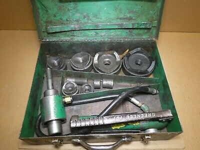 Greenlee 7310 Hydraulic Knockout Tool Kit Up To 4 Knockout Punch Driver Set