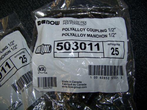 "Bow Polyalloy Coupling 1/2"" 175 ea. 503011 New"