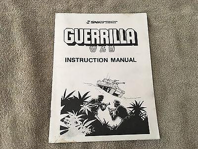 SNK Guerrilla War Instruction Manual