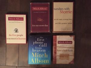 Mitch Albom collection of 5 books.
