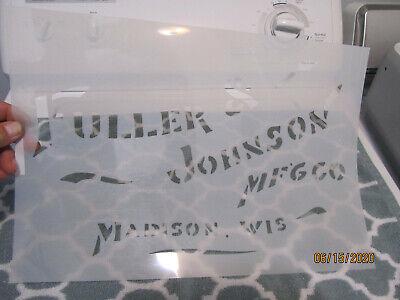 3 5 7 9 Hp Fuller Johnson Double Efficiency Gas Engine Tool Box Stencil
