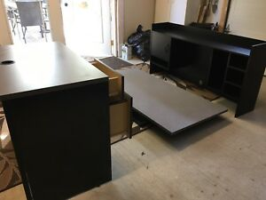 Solid L shaped desk