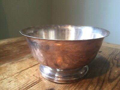 Nice Silver Plate Bowl. Arts & Crafts Planter. Up cycled Garden. Aspidistra