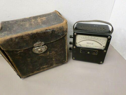 Vintage Weston 433 AC Ammeter Voltmeter Ohmmeter with Case
