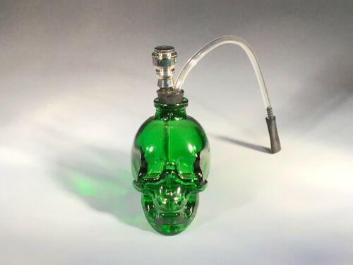 Glass Skull Water Bong Hookah Shape Bubbler Smoking  Pipes US Seller Green