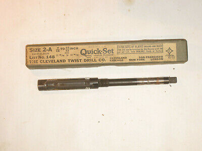 Adjustable Quick-set Reamer Size 2a 716-1532 Cleveland T.wist Drill Co.