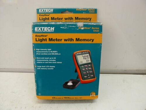 EXTECH Instruments EA33 EasyView light meter with memory new