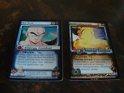 Dragon Ball Z   Foil Rares   Lot Of 2   Blue Terror   Orange Energy Smash